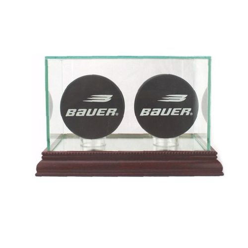 HOCKEY DOUBLE PUCK DISPLAY CASE